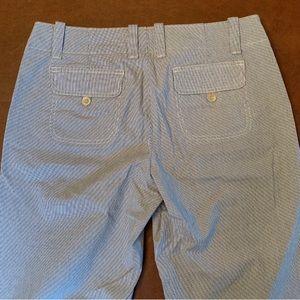 GAP wide leg seersucker pants